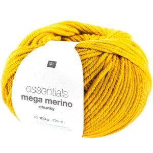 Pelote mega wool chunky jaune