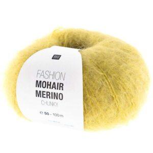 Pelote Mohair Merino moutarde