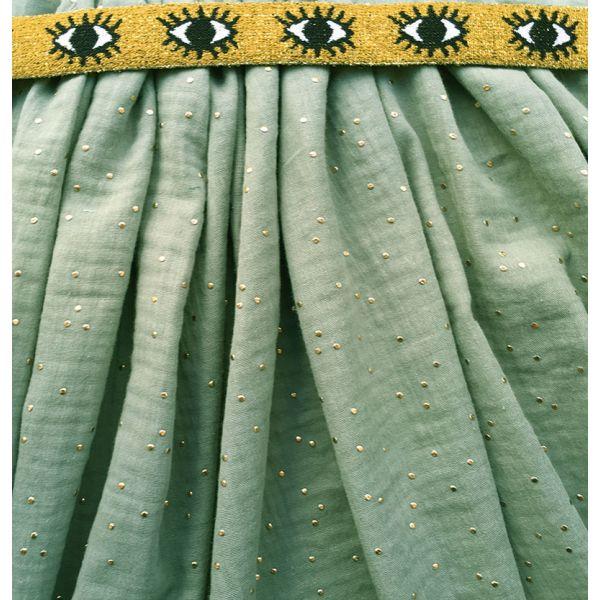 Kit jupe longue indigo et argent