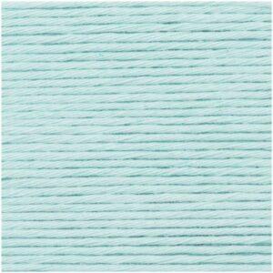 Pelote coton aran bleu glacé