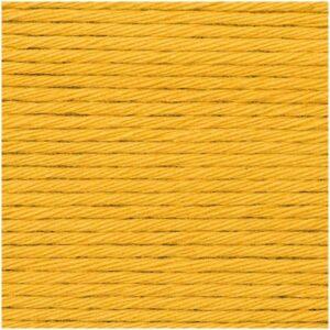 Pelote coton aran moutarde