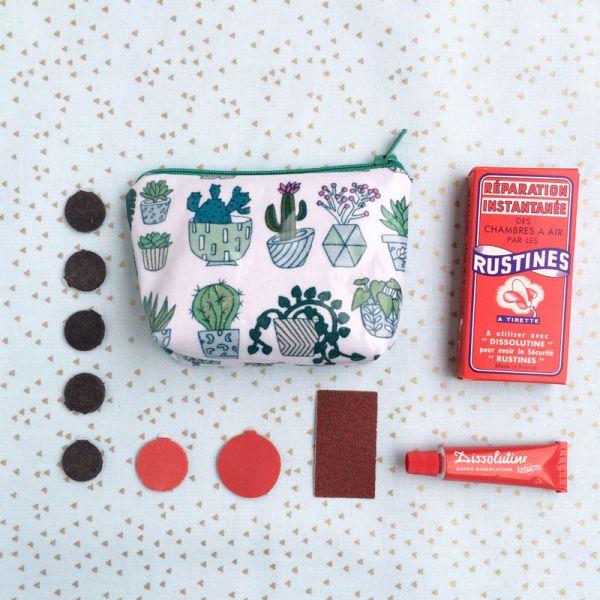Kit mini trousse à rustines ou porte-monnaie