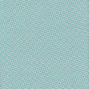 Toile enduite Belle fleur ice green