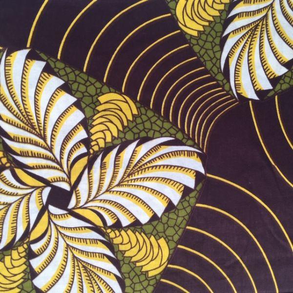 Tissu wax Spirales