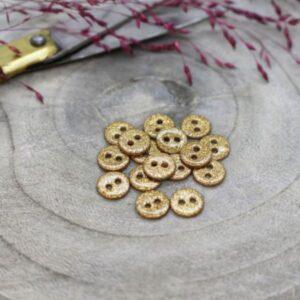 Bouton Glitter ochre 15mm Atelier Brunette