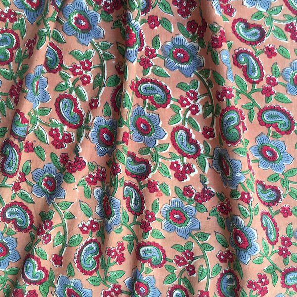 Tissu impression artisanale Madurai