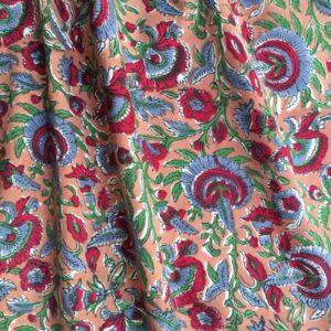 Tissu impression artisanale Rayadurg