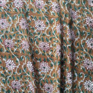 Tissu impression artisanale Somnath
