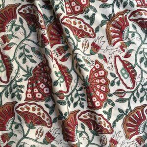 Tissu impression artisanale Shahapur