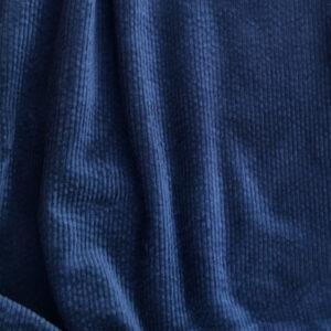 Tissu velours à côte bleu marine