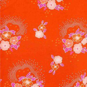 Tissu Folksy tangerine Petit Pan