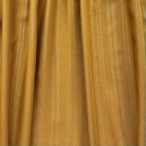 Tissu viscose folies moutarde lurex doré