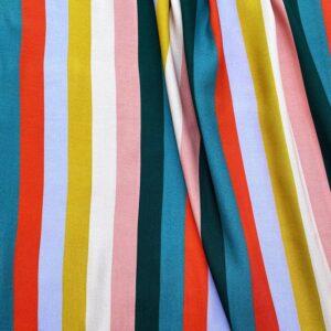 Tissu viscose bayadère
